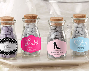 Personalized Milk Bottle Favor Jar